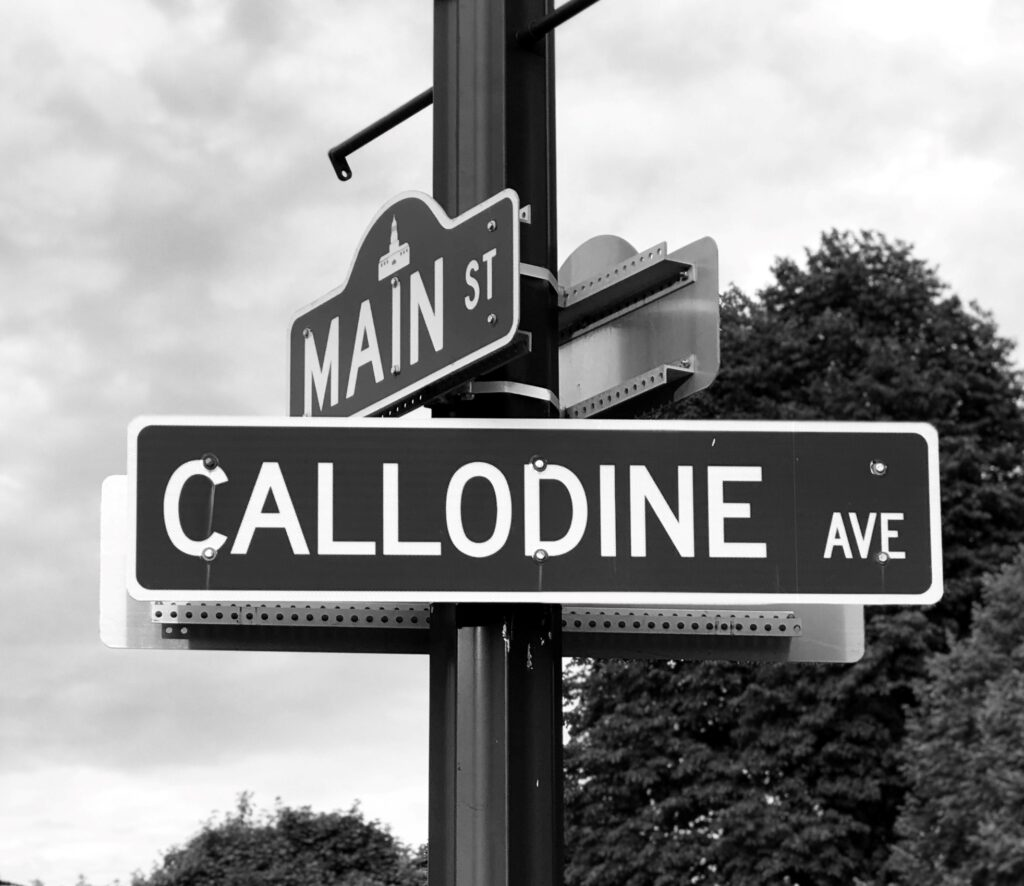 Callodine street sign